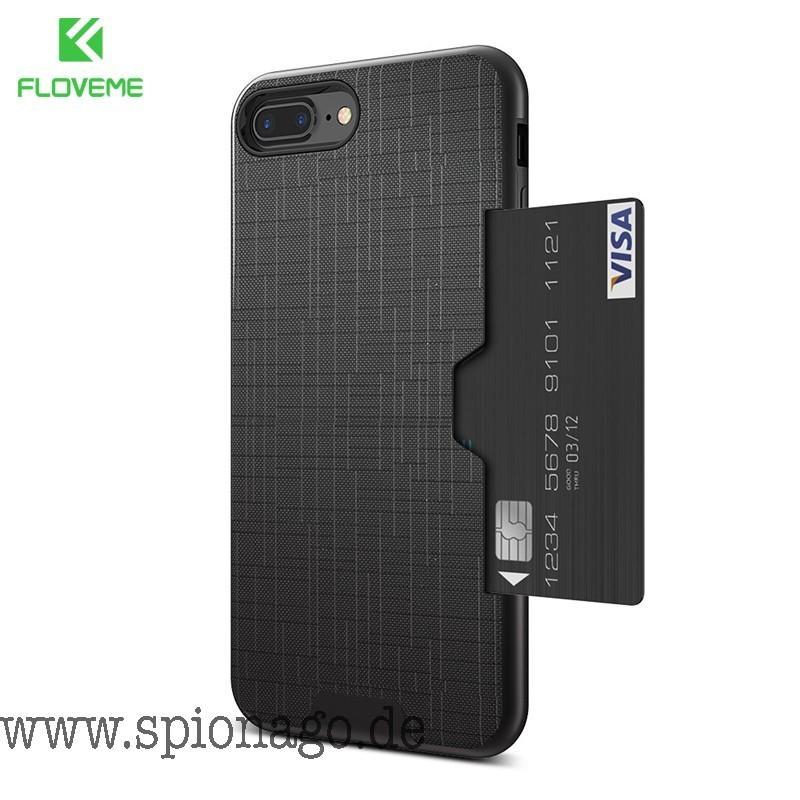 big sale c44cd 609fd Karten Slot Smartphone Case Hülle für iPhone 7 Luxury Wallet Mobile  Accessories für iPhone 8 6 6s 7 Plus Cases Armor Back Cover