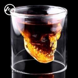 Halloween Totenkopf Skeleton Tasse Whiskey Bar Weingläser Kristallschädel Kopf Vodka Schuss Weinglas