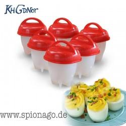Silikon Eierkocher 6 Stück Tassen Dampfer Eierkocher Hart Gekochtes Ei Omelett Formen aus der Werbung von Pro 7 Galileo