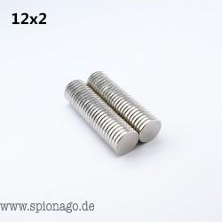 50 Stück Neodym Magnete 12x2mm kleine Starke Runde permanent seltene erden Kühlschrank Elektromagnet NdFeB nickel magnet DISC