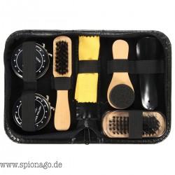 Schuhputz Kit Schwarz & Neutral Pinsel Set für Stiefel Schuhe Sneakers Schuhreinigung