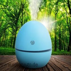 Diffusor Luftbefeuchter mit LED Beleuchtung Ei-Form Aromatherapie für Ätherisches Öl Ultraschallkühlen Nebel Aroma