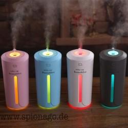 Luftbefeuchter Diffusor Tragbar 230 ml Ultraschall LED Nachtlicht Aroma Ätherisches Öl Luftreiniger Zerstäuber
