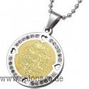 Edelstahl Muslim Allah Koran Vers Anhänger & Halskette für Männer Frauen Islam Kristall Geschenk & Schmuck