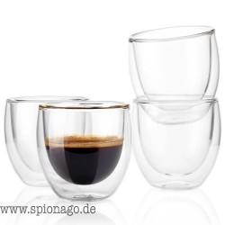 Moderne Gläser doppelschicht 80ml hitzebeständiges Glas kaffee tee tassen doppelschicht 100% handgemachte exquisite tasse glas t