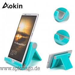 Aokin Universal Smartphone Halter Schreibtischständer Handyhalter für iPad iPhone 7 6s Sony Handyständer für Samsung S6 S8