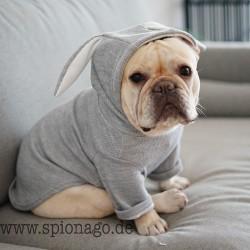 Sehr niedlicher Hunde Pullover Kaninchen Ohr Hundebekleidung Katze Kleidung Hund und Katze französische Bulldogge Kleidung lusti