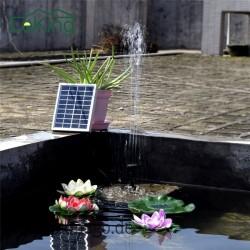 Solarbetriebene Wasser Pumpe für Brunnen - Silikon Solarbürstenloser Wasser Zyklus Teich für Garten Dekoration