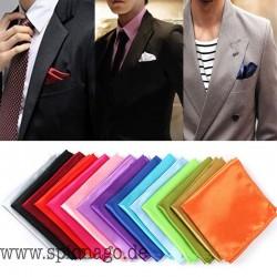 Seiden Satin Einstecktuch Hankerchief einfarbig Hochzeit Männer Anzug Anzugtuch einstecken