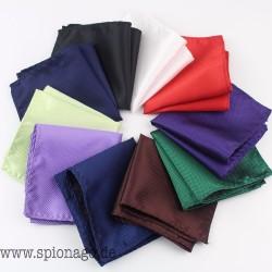 Einfarbig Vintage Fashion Party Männer Taschentuch Männer Polyester Einstecktuch Hanky Taschentücher