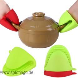 Silikon Hitzebeständige Handschuhe Clips Isolierung Antihaft rutschfeste Topf Küche Halter Clip Kochen Backen Topflappen
