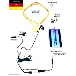 Nano Spionage Kopfhörer SPY SET Nr.2 Unsichtbares Headset