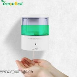 Premium Seifenspender Batteriebetriebene 600ml Wandmontage Automatische IR-Sensor Berührungslose Küche Seifen-Lotion-Pumpe für K