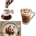 16 Stück Kaffee Kakao Streuer Vorlagen - Stencil Filter Kaffeemaschine Cappuccino Kaffee Barista Streuen