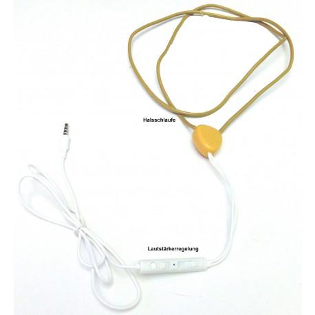 Spionage Kopfhörer SPY Halsschlaufe Premium -  Examen Prüfung UNI ABI Headset