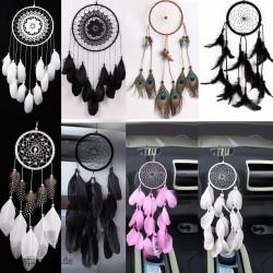 Handgemachter Traumfänger schwarze Feder-Spitze Indian Dream Catcher-Korn-hängende Dekoration Ornament Geschenk Spirit Esoterik