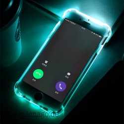 LED Flash Licht Hülle für iPhone 6 6S 7 8 Plus 5 5S SE Hülle transparent Anruf Flash