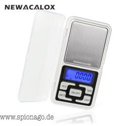NEWACALOX Präzisions Waage digital 200g x 0.01g Mini für die Tasche für Gold Silber Waage Schmuck 0,01 Gewicht Elektronische Waa