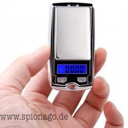 Ultra kleine Feinwaage Mini-LCD-elektronisch Digital-Taschen-Waage Schmuck Gold kleiner als Autoschlüssel