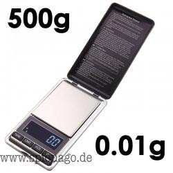 500g / 0,01 g 0,01 Gramm Mini Elektronische Waage Precision bewegliche Taschen LCD Digital Schmuck Skalen Gewicht-Balance Gold