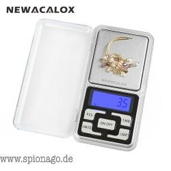 500g x 0,1 g Mini-Tasche digitale Waage für Gold-Sterling Silber Schmuck Waagen 0,1 Anzeigeeinheiten Gleichgewicht Gram Elektron