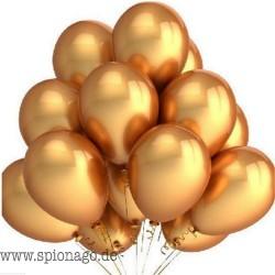 100 x Premium Gold Latexballons 10-Zoll-Aufblasbar Latex Helium-Ballone Hochzeit Alles Gute zum Geburtstag-Party-Dekoration