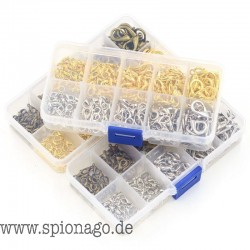 DIY Mega Angebot Schmuck Zubehör für Armband Halskette Endanschluss Karabinerverschluss Set